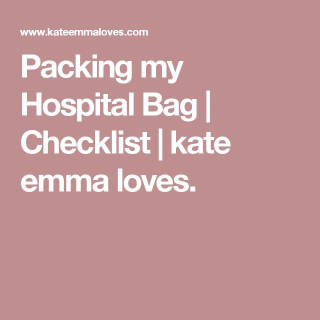 Packing my Hospital Bag | Checklist | kate emma loves.