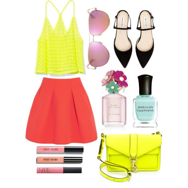 """neon lights"" by jaeliene on Polyvore"