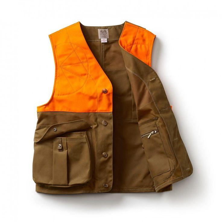 Upland Hunting Vest - Tan/Blaze Orange - S