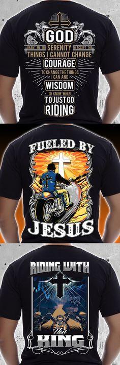 Tolle Reitausrüstung für christliche Biker! Schauen Sie sich diese Sammlung auf T-Shirts, …   – Christian biker