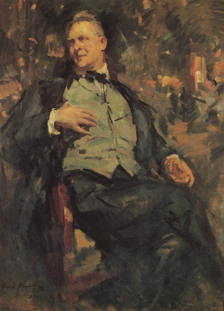 Константин Коровин. Галерея картин и рисунков художника Портрет Ф.И.Шаляпина. 1921 г.