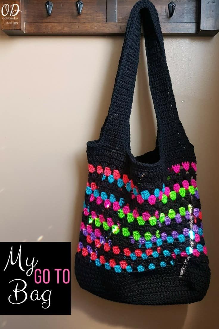 My Go To Bag A Free Crochet Pattern 2nd Crochet Bags Purses