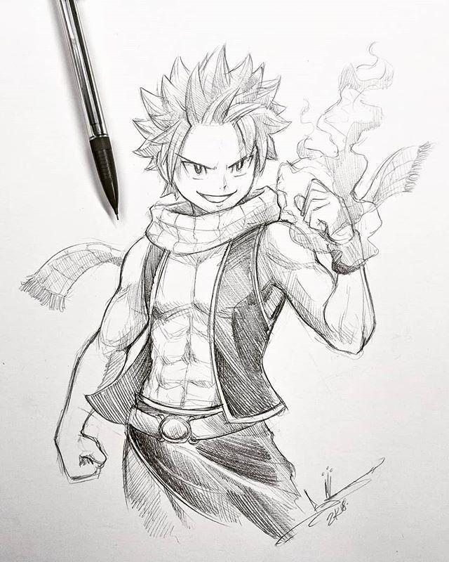 Instagramの上のバーディc In 2020 Natsu Drawing Fairy Tail Drawing Fairy Tail Art