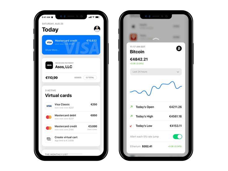 Newbank - Bitcoin modal by Bohdan Kononets - Dribbble