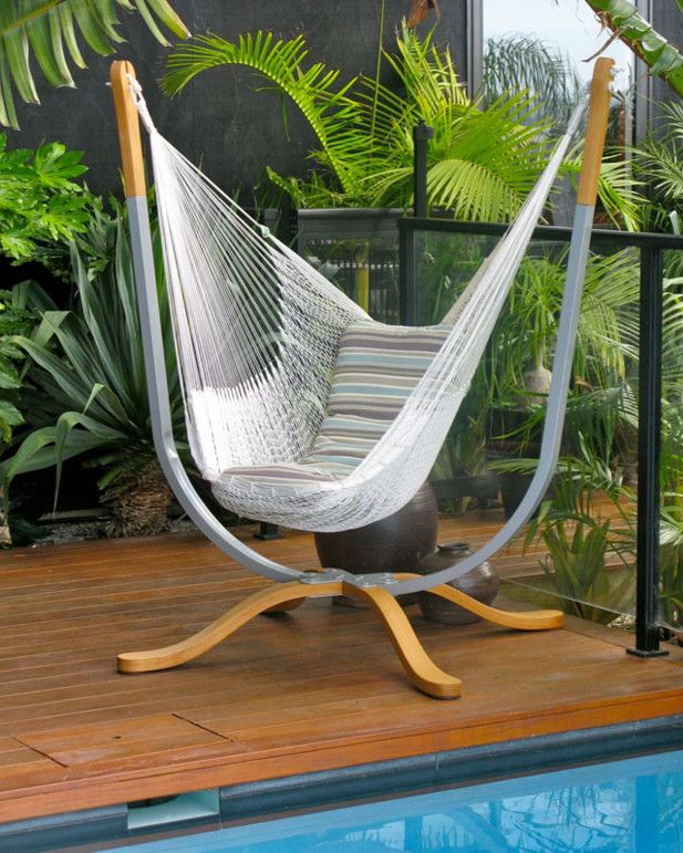 Compact indoor hammock stand hammock pinterest for Diy bedroom hammock