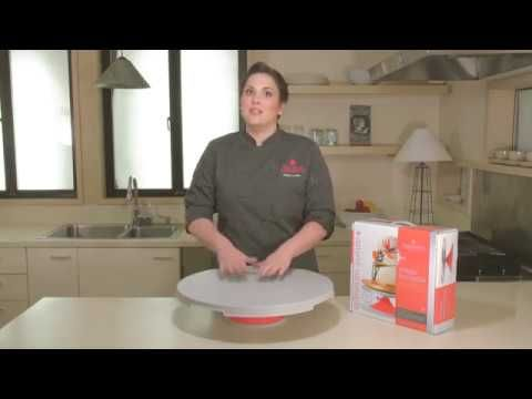 """Innovative Sugarworks Artists Turntable for cake decorating.  Watch as Kaysie Lackey explains the 12"""" turntable and why it's every cake decorators dream. Available to buy from The Cake Decorating Company."""