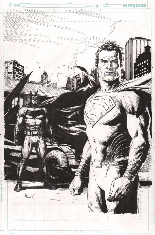 General Mills Batman v Superman: Dawn of Justice #2 cover Comic Art