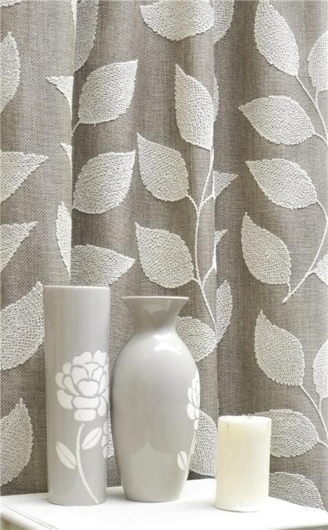 Beautiful vine drapery fabric - Caymen Hessian by Charles Parsons Interiors #neutral #fabric #vine #drapery #curtain #charlesparsonsinteriors
