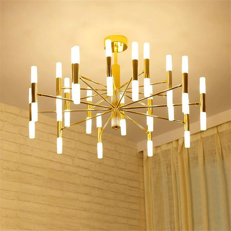 Minimalist Gold Chandeliers For Hotel Hall Chandelier Ceiling Lamp Lustres Para Sala Lampadario Candelabro G9 LED Luminarias