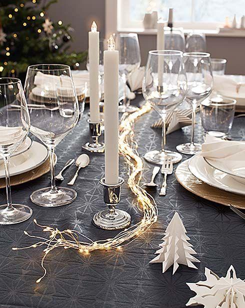 Ber ideen zu weihnachtstisch auf pinterest - Weihnachts tischdeko ideen ...