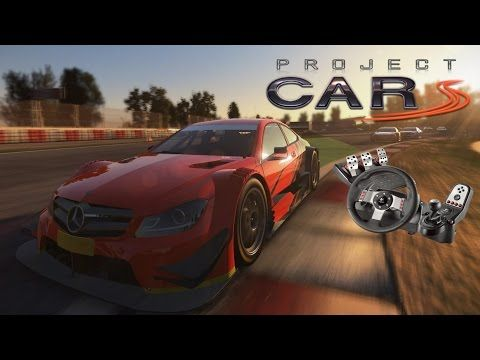 Project Cars Mercedes DTM Race + Logitech G27 & Trackir 5 - YouTube