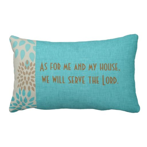 Throw Pillows With Scripture : As for Me and My House Serve the Lord Scripture Lumbar Pillow Throw pillows, Decorative throw ...