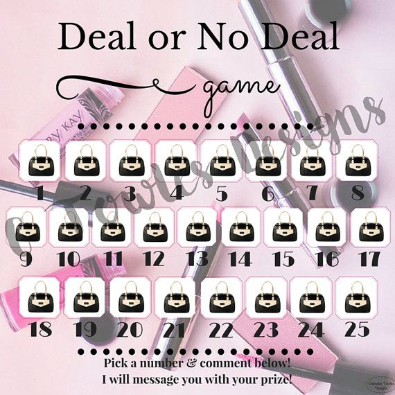Mary Kay Deal or No Deal Game Digital Download by CTowlesDesigns