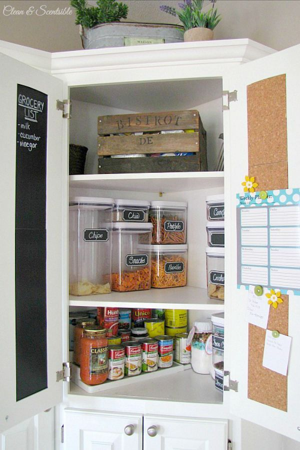 How To Organize Your Kitchen Clean And Scentsible Kitchen Pantry Cupboard Kitchen Organization Pantry Corner Kitchen Cabinet