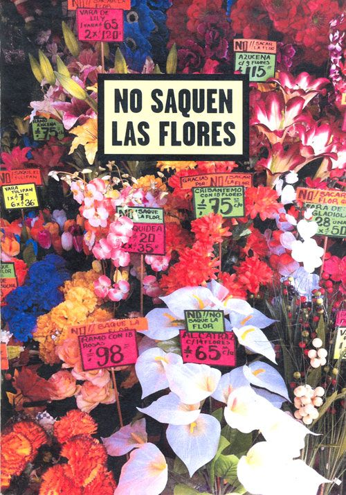 No saquen las flores Photozine / México: Distrito Federal, Teotihuacán de Arista, Oaxaca and Veracruz / 28 pages / colour Published on December 2013  by Pere Saguer Edition of 60