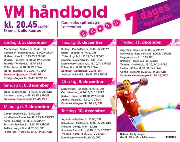 VM i håndbold: Se hvornår du kan følge Danmark   VM Kvindehåndbold   DR