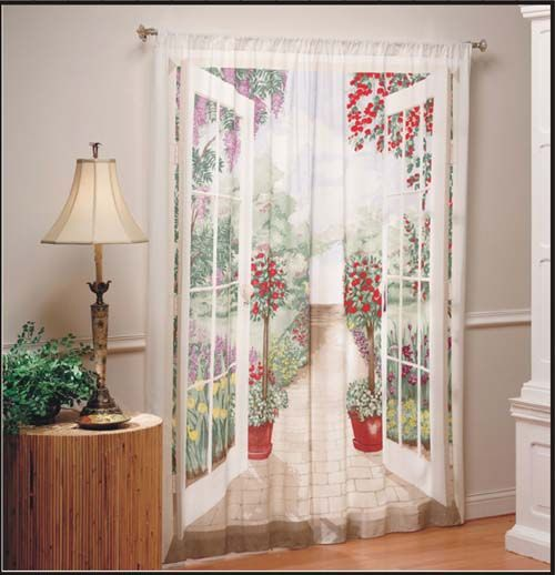 Outdoor View Curtains | Cottage Style Shower Curtains