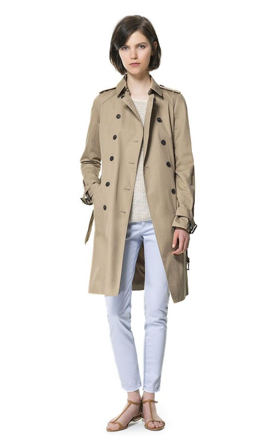 Imagen 1 de GABARDINA DOBLE BOTONADURA de Zara: Woman, Double Breasts, Breasts Raincoat, Styles, You Are In, U.S. States, Zara United States, Trench Coats, Zara Double