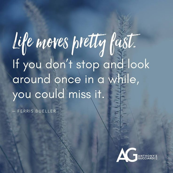 Life Moves Pretty Fast: Best 25+ Life Moves Pretty Fast Ideas On Pinterest