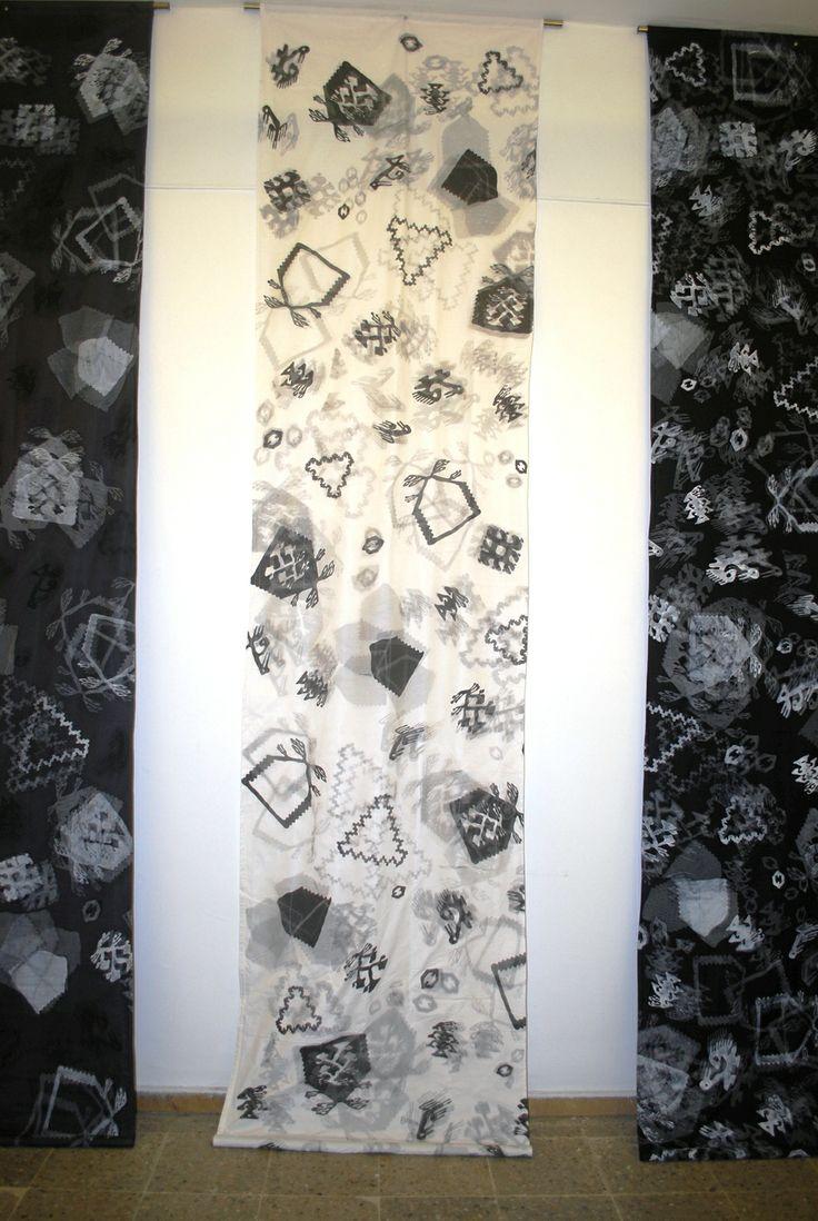 Proje-Şarköy Kilim Motifli Baskı Tasarımı-Manipülasyon 90x300(cm) 2011