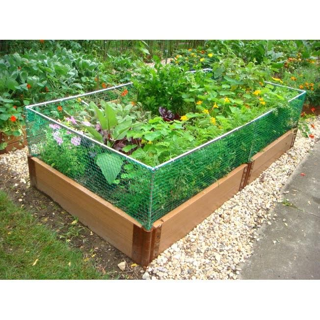 Rabbit fencing for raised garden beds
