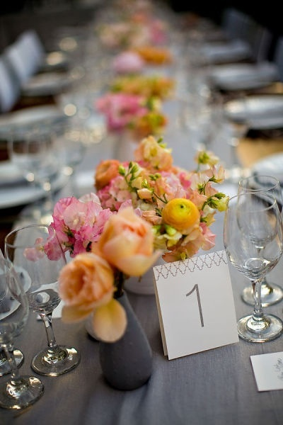 Table setting   table number card