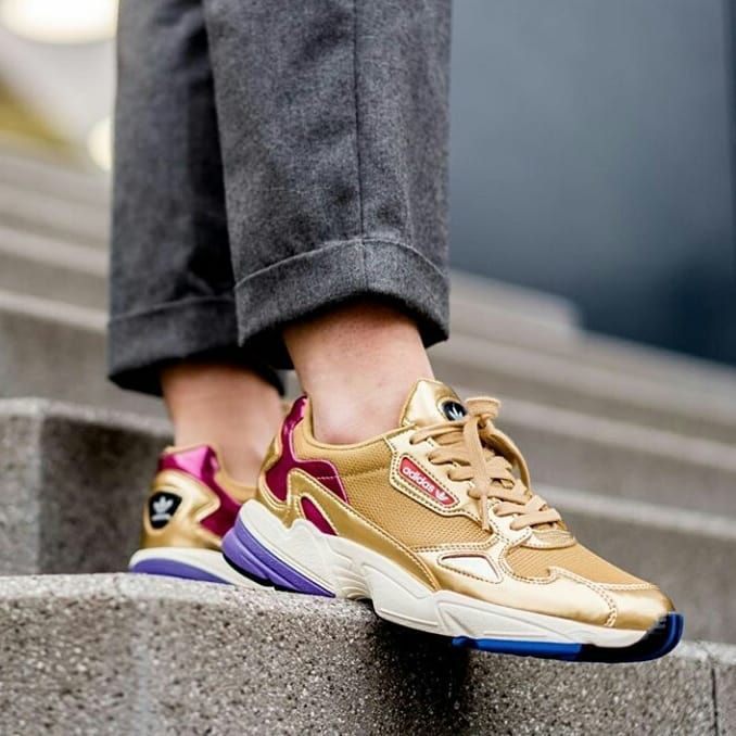 IDR 550,000 Adidas Falcon Gold Purple