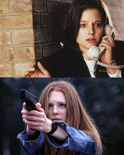 """Jodie Foster as Clarice Starling on """"The Silence of the Lambs"""" and Julianne Moore as Clarice Starling on """"Hannibal""""."""