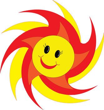 Emotion Faces Clip Art | Free Clipart Picture of a Smiley Face Sun