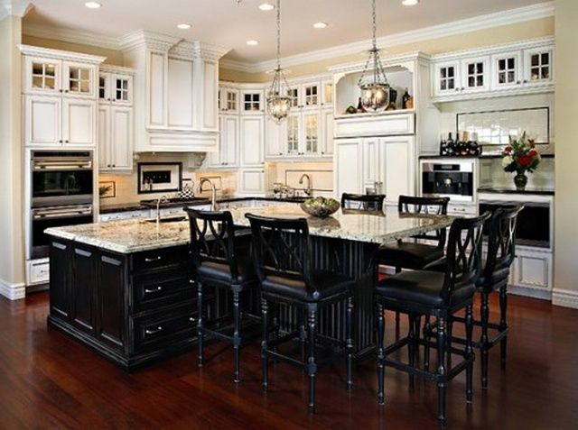 13 best kitchen islands with attached tables images on pinterest kitchen island table kitchen. Black Bedroom Furniture Sets. Home Design Ideas
