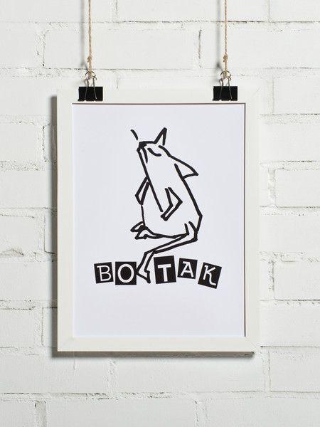"""Plakat - Foch """"BO TAK"""" 30x40 cm (+ inne rozmiary) - BonzooBox - Plakaty typograficzne"""