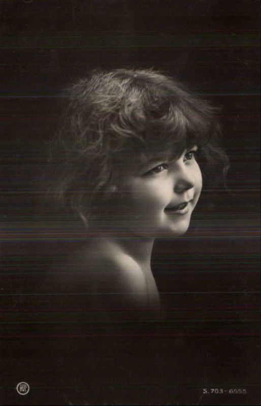 Beautiful Happy Little Girl - Semi-Nude C1910 Real Photo