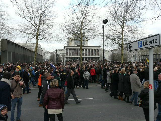 Manif du 11/1/2015 Mairie de Brest