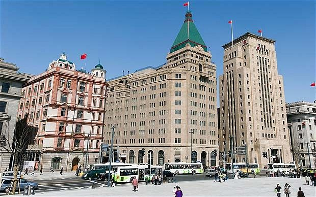 Peace Hotel, Shanghai - Built in 1908, it creeped me out to stay there.