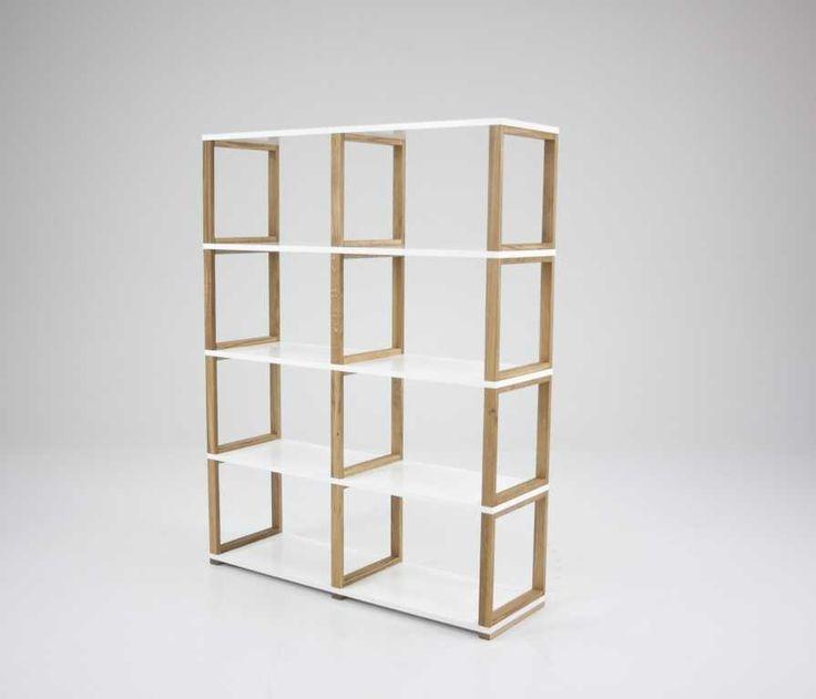 Boekenkast 8 vakken Maxmeubels Deze boekenkast Art Shelf heeft 8 open vakken. Door de open vakken is de kast ook goed te gebruiken als roomdi