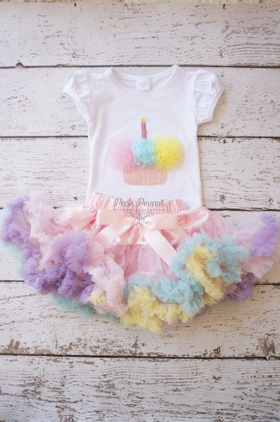 First birthday outfit Birthday outfit Tutu door PoshPeanutKids