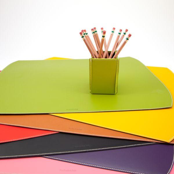 bella leather desk blotter