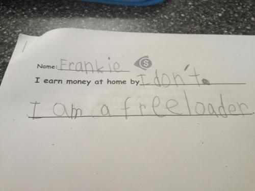 They took a good hard look in the mirror and confronted themselves. | The 28 Funniest Notes Written By Kids In 2013