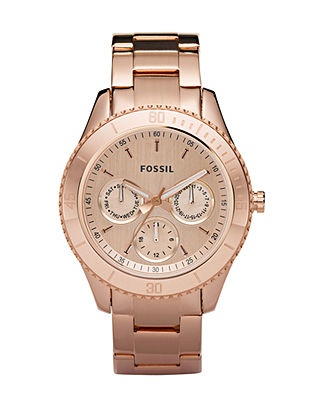 Fossil Watch, Women's Rose Gold Tone Stainless Steel Bracelet 37mm ES2859 - All Watches - Jewelry & Watches - Macy's