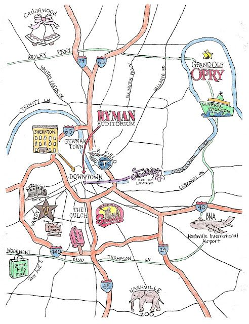 Follow The Map: Music City USA!  :  wedding diy invitations nashville map