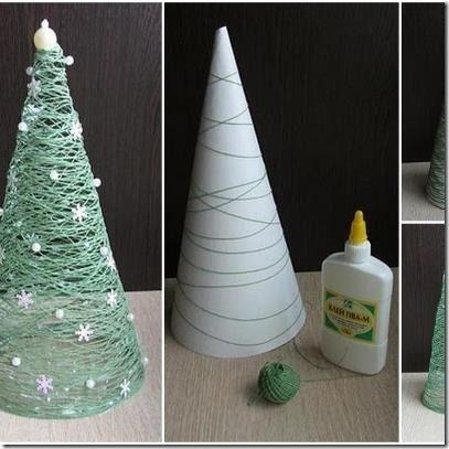 arbol de navidad reciclado con carton - Buscar con Google