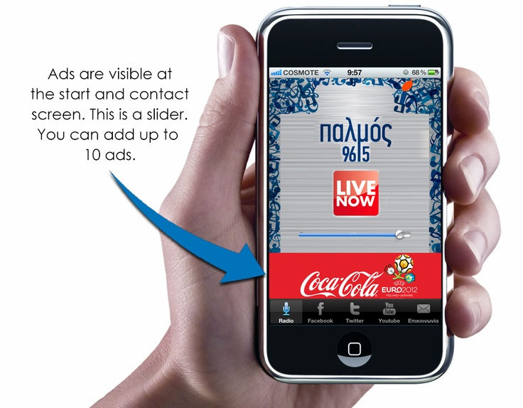 iphone & android radio applications with ads system!