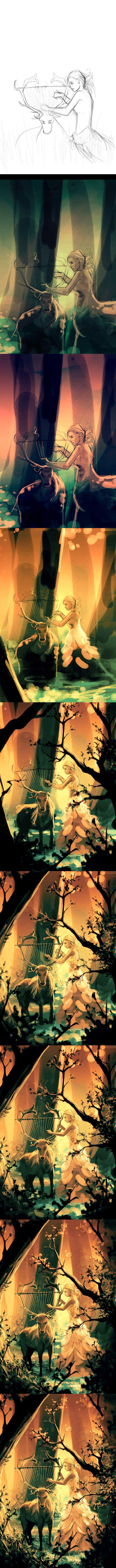 WIP Feral strings by AquaSixio.deviantart.com on @deviantART