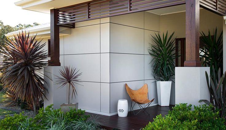 Scyon Walls Matrix Cladding dominates the facade and entrance