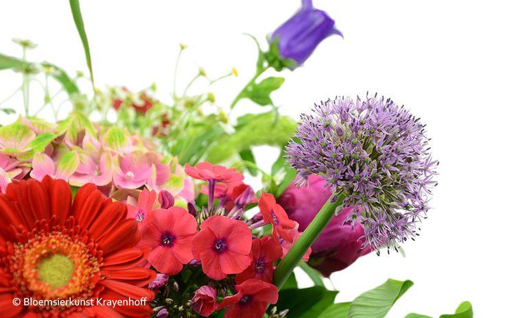 Close up boeket www.krayenhoff.nl