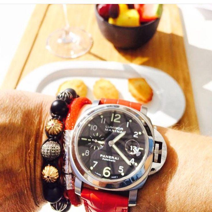 Summer Panerai with Nialaya bracelets