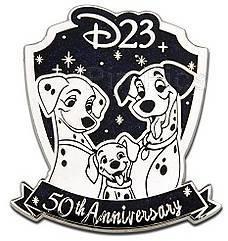 Rare Disney LEDS D23 Membership 50th Anniversary 101 Dalmatians Pin (UC:82631). $110.94.