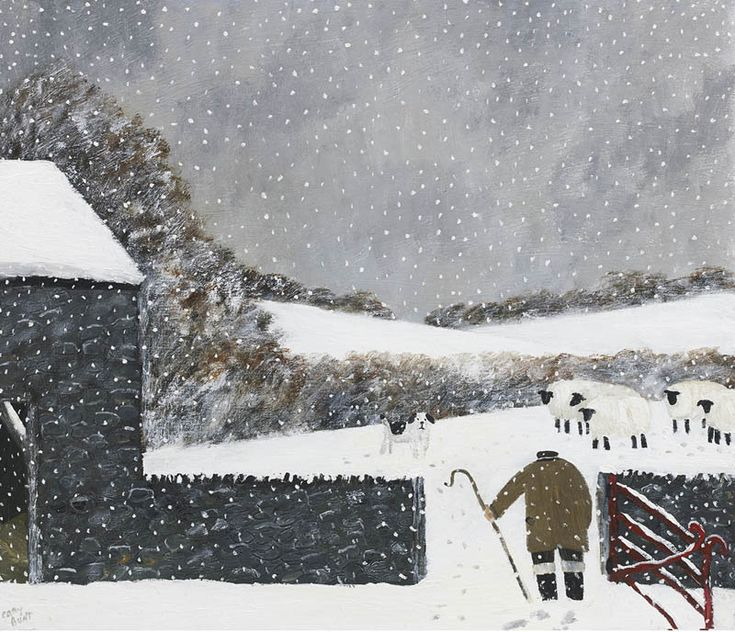 Gary Bunt | Bloomin' Sheep - My master made me come out here, To fetch the bloomin sheep He said he was getting rather concerned Because the snow was very deep I can't say I'm too happy They won't do as they are told So we can't go home yet My paws are wet And my nose is freezing cold
