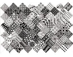 Zentangle Pattern Quilt 2 by TheLonelyMaiden on deviantART