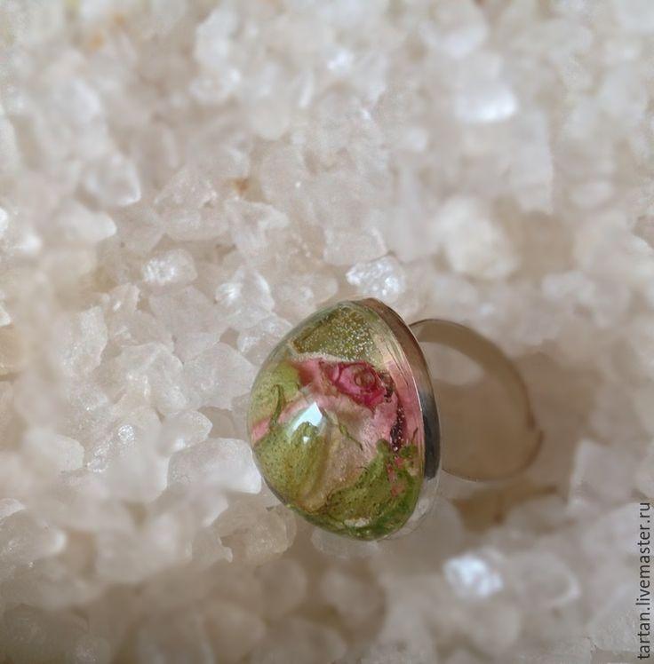 Купить Кольцо с розой натуральные украшения купить - бледно-розовый, кольцо, кольцо ручной работы